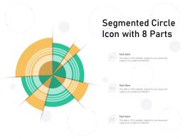 Segmented Circle Icon With 8 Parts