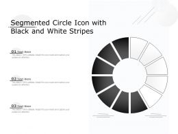 Segmented Circle Icon With Black And White Stripes