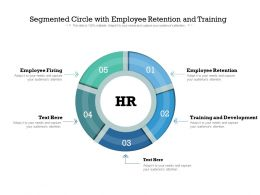 Segmented Circle With Employee Retention And Training