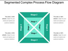 Segmented Complex Process Flow Diagram Presentation Ideas