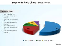 segmented pie chart data driven ppt slides diagrams templates powerpoint info graphics