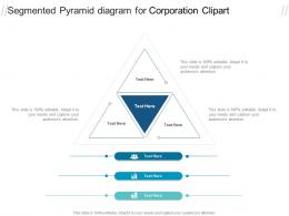 Segmented Pyramid Diagram For Corporation Clipart Infographic Template