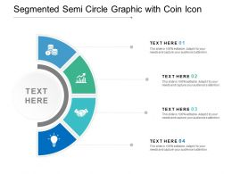 Segmented Semi Circle Graphic With Coin Icon