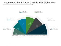 Segmented Semi Circle Graphic With Globe Icon