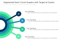 Segmented Semi Circle Graphic With Target At Center