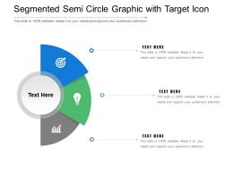 Segmented Semi Circle Graphic With Target Icon