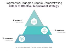 Segmented Triangle Graphic Demonstrating 3 Item Of Effective Recruitment Strategy