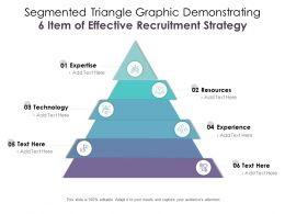 Segmented Triangle Graphic Demonstrating 6 Item Of Effective Recruitment Strategy