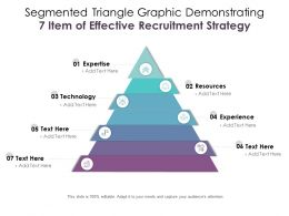 Segmented Triangle Graphic Demonstrating 7 Item Of Effective Recruitment Strategy