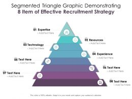 Segmented Triangle Graphic Demonstrating 8 Item Of Effective Recruitment Strategy