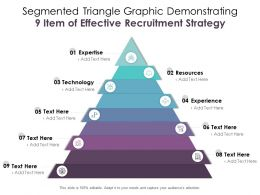 Segmented Triangle Graphic Demonstrating 9 Item Of Effective Recruitment Strategy