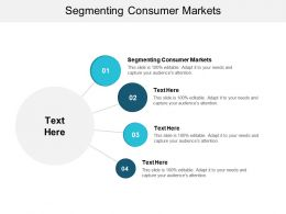 Segmenting Consumer Markets Ppt Powerpoint Presentation Ideas Graphics Tutorials Cpb