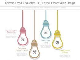 Seismic Threat Evaluation Ppt Layout Presentation Design