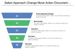 Select Approach Change Move Action Document Share Work Goals Objectives