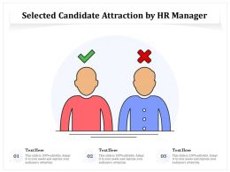 Selected Candidate Attraction By HR Manager