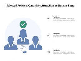 Selected Political Candidate Attraction By Human Hand