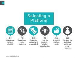 Selecting A Platform Powerpoint Slide Deck