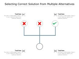 Selecting Correct Solution From Multiple Alternatives