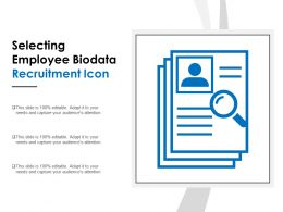 Selecting Employee Biodata Recruitment Icon