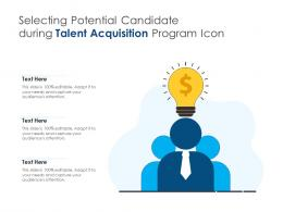 Selecting Potential Candidate During Talent Acquisition Program Icon