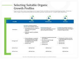 Selecting Suitable Organic Growth Profiles Funds Ppt Powerpoint Presentation Diagram Ppt