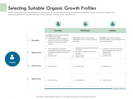 Selecting Suitable Organic Growth Profiles Ppt Ideas