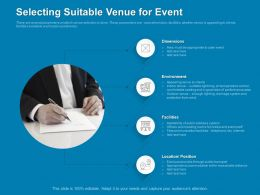 Selecting Suitable Venue For Event Protection Ppt Powerpoint Presentation Introduction