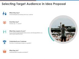 Selecting Target Audience In Idea Proposal Ppt Powerpoint Presentation Outfit