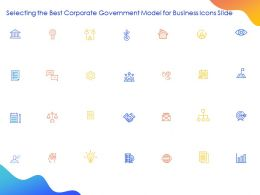 Selecting The Best Corporate Government Model For Business Icons Slide Ppt Powerpoint Slides