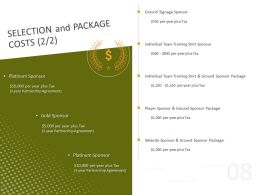 Selection And Package Costs Individual Team Ppt Powerpoint Presentation Show