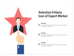 Selection Criteria Icon Of Expert Worker