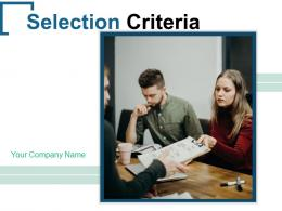 Selection Criteria Process Employment Corporate Organization Through