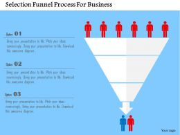 Selection Funnel Process For Business Flat Powerpoint Design