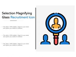 Selection Magnifying Glass Recruitment Icon