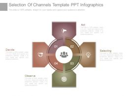 Selection Of Channels Template Ppt Infographics