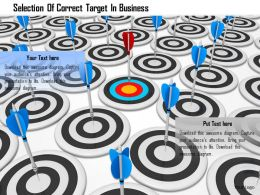 Selection Of Correct Target In Business Image Graphics For Powerpoint