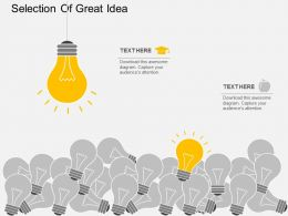 Selection Of Great Idea Flat Powerpoint Design