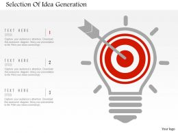 Selection Of Idea Generation Flat Powerpoint Design