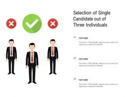Selection Of Single Candidate Out Of Three Individuals