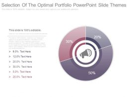 Selection Of The Optimal Portfolio Powerpoint Slide Themes
