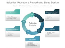 Selection Procedure Powerpoint Slides Design
