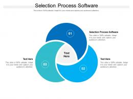 Selection Process Software Ppt Powerpoint Presentation Slides File Formats Cpb
