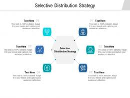 Selective Distribution Strategy Ppt Powerpoint Presentation Pictures Backgrounds Cpb