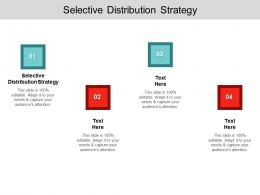 Selective Distribution Strategy Ppt Powerpoint Presentation Professional Icons Cpb