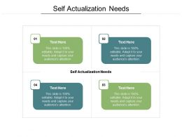 Self Actualization Needs Ppt Powerpoint Presentation Ideas Demonstration Cpb