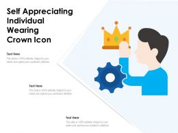 Self Appreciating Individual Wearing Crown Icon