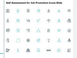 Self Assessment For Job Promotion Icons Slide Ppt Powerpoint Presentation File