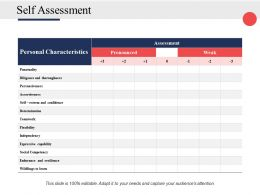 Self Assessment Ppt Powerpoint Presentation File Ideas