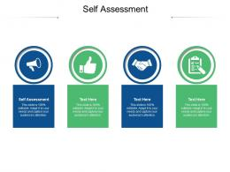 Self Assessment Ppt Powerpoint Presentation Infographic Template Diagrams Cpb