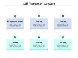 Self Assessment Software Ppt Powerpoint Presentation Model Smartart Cpb